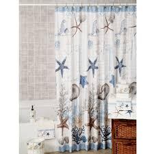 Nautical Shower Curtains Antigua Starfish Coastal Shower Curtain Antigua Coastal And