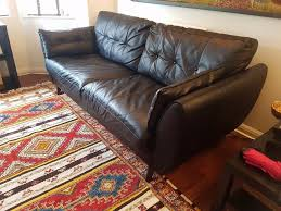 Used Leather Sofa by Dfs Black Leather Sofa 3 Seater Used In South East London