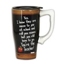 teacher coffee mugs you u0027re the teacher travel mug classic