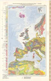 Map Of The Mediterranean International Geological Map Of Europe And The Mediterranean