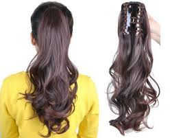 clip on ponytail fashion girl s hairpiece wave claw clip ponytail