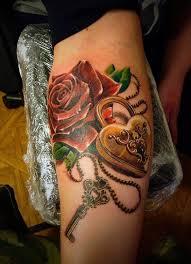 50 inspiring lock and key tattoos and design