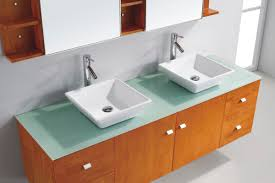 Red Bathroom Cabinets Magnificent Glass Countertop For Bathroom Vanity Below Square