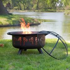 red ember oasis fire pit with grill grate and free cover hayneedle