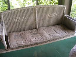 Patio Swing Cushions Decor Perfect Wicker Porch Swing For Your Outdoor Decoration