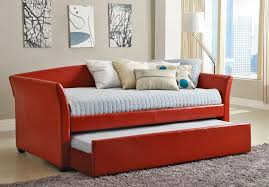 bedroom impressive home delmar leather daybed with trundle