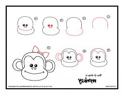simple drawing of monkey how to draw a spider monkey spider monkey