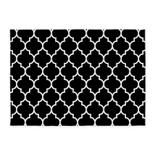 Quatrefoil Area Rug Black And White Moroccan Quatrefoil 5 X7 Area Rug By Beautifulbed