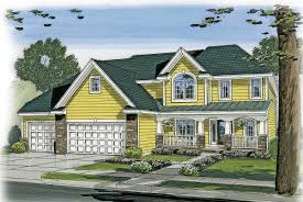 country home with 4 car tandem garage 62577dj architectural