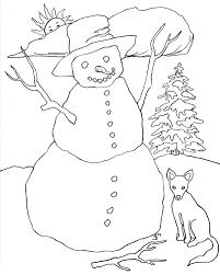 colour snowman