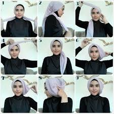 tutorial turban sederhana kece buat kondangan styles pinterest square hijab tutorial