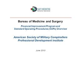bureau standard bureau of medicine and surgery financial improvement program and