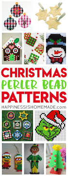 christmas patterns christmas perler bead patterns happiness is