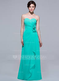 a line sweetheart floor length chiffon bridesmaid dress with