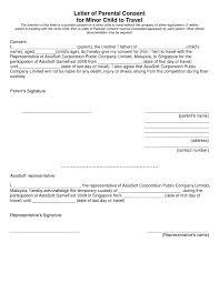 consent minor child travel consent form