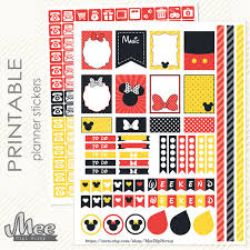 mickey minnie mouse inspired printable planner stickers