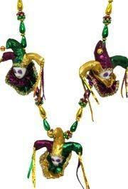fancy mardi gras mardi gras decorated with jester and mask medallions