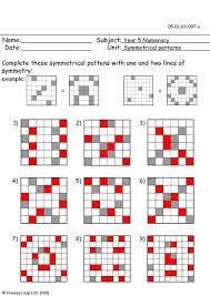 primaryleap co uk symmetrical patterns worksheet