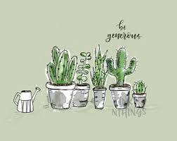cactus sketches etsy