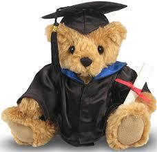 graduation bears graduation teddy gift royal blue gown great