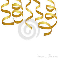 party streamers golden party streamers carnival serpentine vector