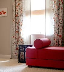 curtains to match a red couch love it and the gray walls