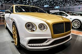 white gold bentley geneva 2016 mansory bentley flying spur