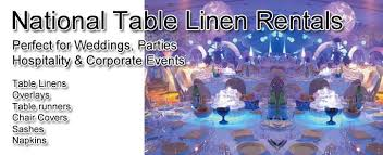 rental linens wedding party linen rental tablecloths skirts accessories