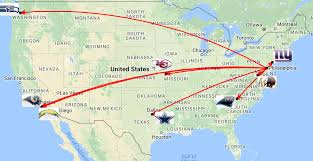 Oklahoma Travel Distance images Eagles have the shortest travel schedule of any nfc east team in png