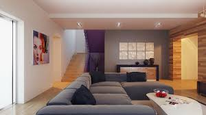Grey Feature Wall Feature Wall Gray Wall Decor And Grey Sofa In Modern Living Room