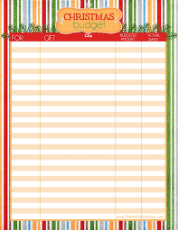 the polka dot posie christmas organizing printables to get you in