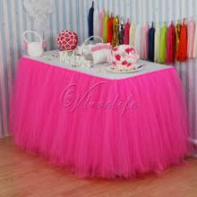 Table Skirts Online Get Cheap Pink Tulle Table Skirt Aliexpress Com Alibaba
