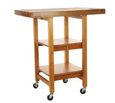 folding kitchen island cart folding island kitchen cart with hand brushed textured top page 1