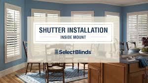 Inside Mount Window Treatments - shutter installation installing inside mount shutters youtube