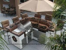 backyard bbq bar designs spartan island with barbecue side burner refrigerator storage