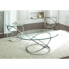 coffee tables splendid silver orion oval chrome and glass coffee