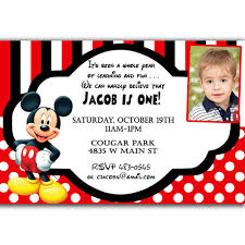 Mickey Mouse 1st Birthday Card Mickey Mouse Invitation Card Orderecigsjuice Info