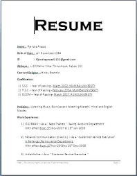 simple format for resume sle simple resume format resume format sle for in simple