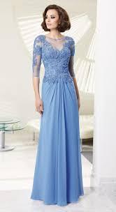 2014 sky blue evening dress half sleeve lace long evening dress