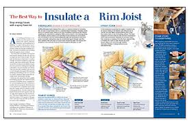Best Way To Insulate A Basement by The Best Way To Insulate A Rim Joist Fine Homebuilding