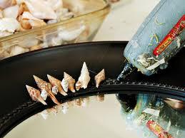 how to make a seashell mirror hgtv