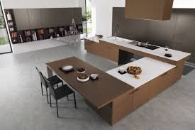 Modern L Shaped Kitchen With Island by Overwhelming Kitchen Design Scheme Presenting Solid Wooden