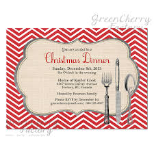 holiday invitation cards christmas party dinner invitation red chevron background