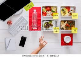 healthy eating restaurant food delivery business stock photo