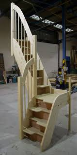 Quarter Turn Stairs Design Bespoke Spacesaver Stairs Wooden Staircases Made To Measure Uk