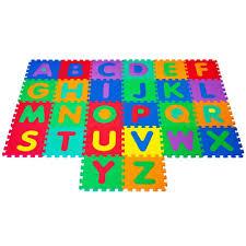 trademark games foam floor alphabet puzzles mat for kids 80 31515