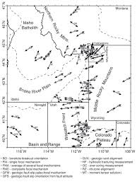 Map Of Idaho And Utah by U Of U Seismology And Active Tectonics Research Group