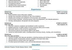 esthetician resume exles entry level finance resume ajrhinestonejewelry