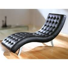 Leather Chaise Lounge Chair Attractive Black Leather Chaise Lounge With Black Leather Chaise