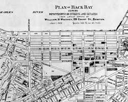 Back Bay Boston Map by Back Bay Development 1885 1889 Back Bay Houses
